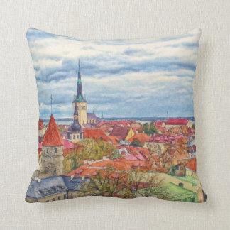 Tallinn Estonia by Shawna Mac Throw Pillow