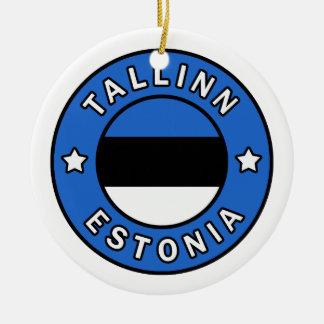 Tallinn Estonia Ceramic Ornament