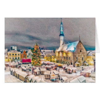 Tallinn Estonia Christmas Market Card
