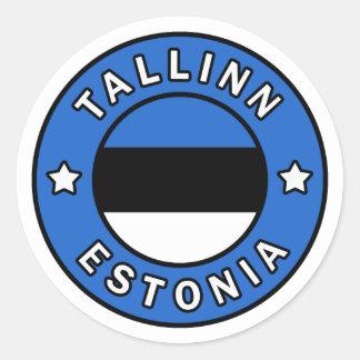 Tallinn Estonia Classic Round Sticker