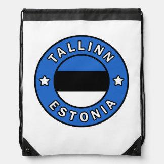 Tallinn Estonia Drawstring Bag