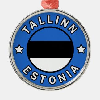 Tallinn Estonia Metal Ornament