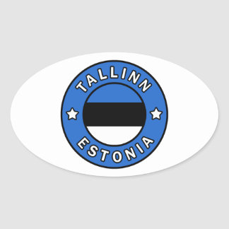 Tallinn Estonia Oval Sticker
