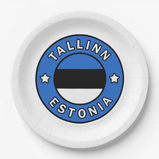 Tallinn Estonia Paper Plate