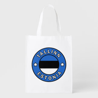 Tallinn Estonia Reusable Grocery Bag