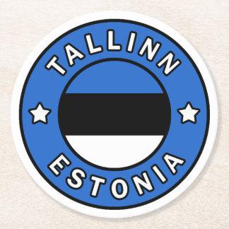 Tallinn Estonia Round Paper Coaster