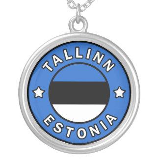 Tallinn Estonia Silver Plated Necklace