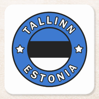 Tallinn Estonia Square Paper Coaster