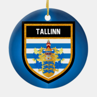 Tallinn Flag Ceramic Ornament