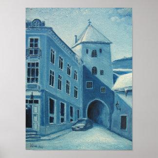 Tallinn in Blue Poster