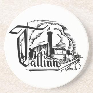 Tallinn Logo - Sandstone Coaster