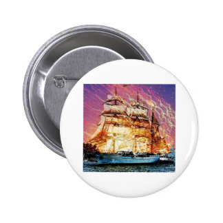 tallship and fireworks 2 inch round button
