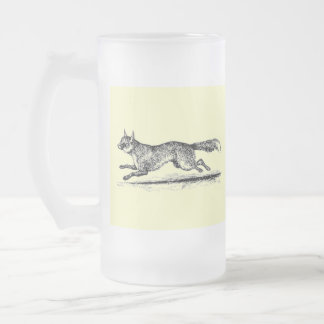 Tally Ho II Frosted Glass Beer Mug