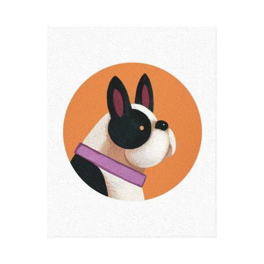 Tallydog Circle of Friends Dog Canvas Print