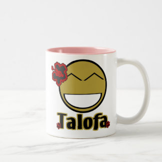 Talofa Smiley Two-Tone Coffee Mug