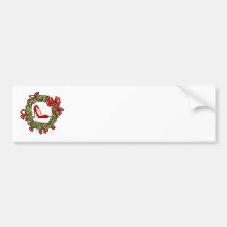 Talons hauts/guirlande rouges de Noël Adhésif Pour Voiture