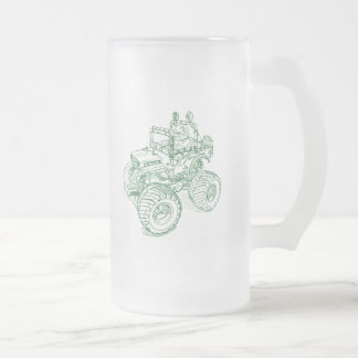 Tam Wild Willys Frosted Glass Beer Mug