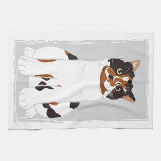 tama of tortoiseshell cat towels