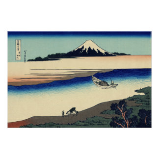 Tama River in Musashi Province Poster