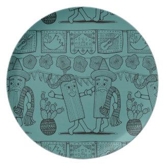 Tamale Festival Line Art Design Plate