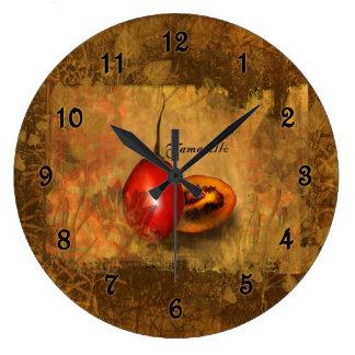Tamarillo Botanical Large Clock