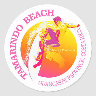 Tamarindo Beach Classic Round Sticker