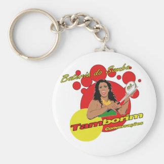 Tamborim Batucada de Samba Keychain