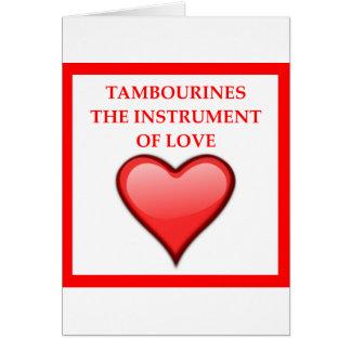 tambourine card
