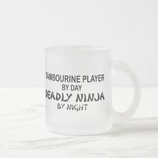 Tambourine Deadly Ninja by Night Frosted Glass Coffee Mug