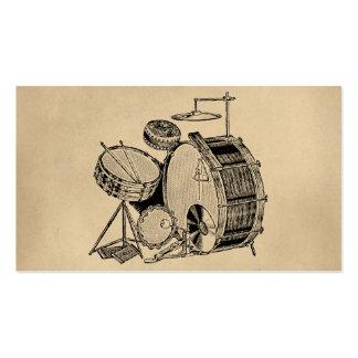 Tambours vintages de kit de tambour carte de visite standard