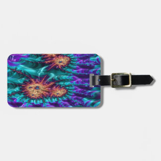 tamer crimson fractal luggage tag