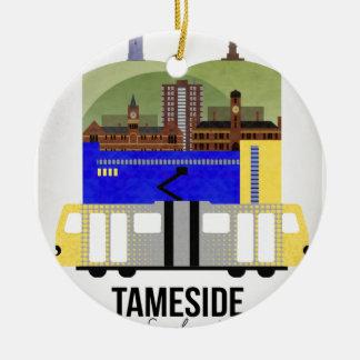 Tameside Ceramic Ornament