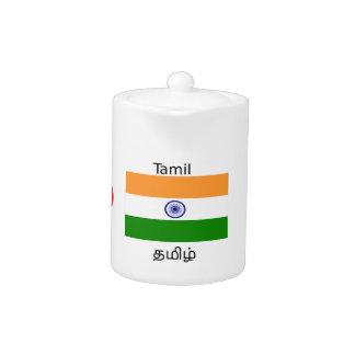 Tamil Language And India Flag Design