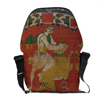 Taming of the Wild Animal, Byzantine tapestry frag Courier Bags