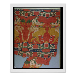 Taming of the Wild Animal, Byzantine tapestry frag Poster