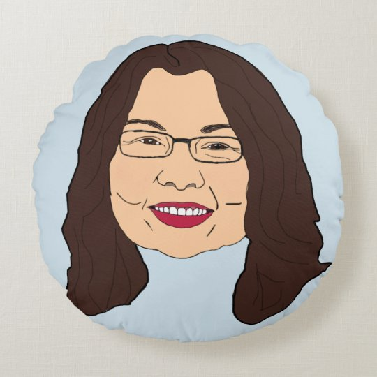 Tammy Duckworth Round Pillow