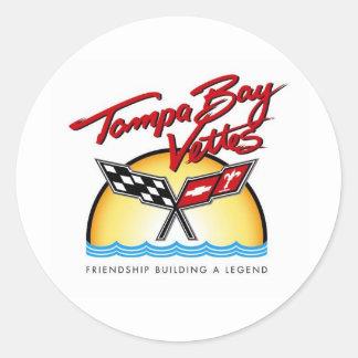 Tampa Bay Corvette Classic Round Sticker