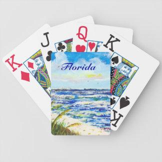 Tampa Bay Florida Beach Sunshine Skyway Bridge Bicycle Playing Cards