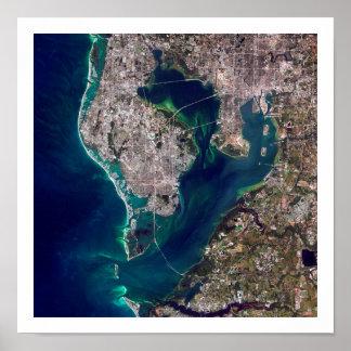 Tampa Bay Satellite Image Poster