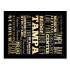 Tampa City of Florida State Typography Art Postcard