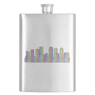 Tampa city skyline flask