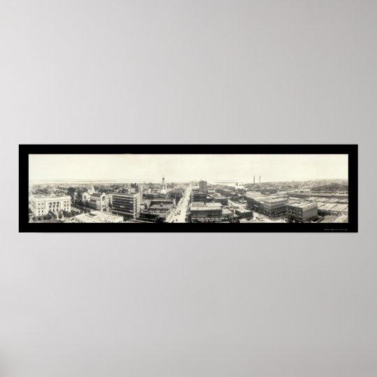 Tampa FL Panoramic Photo 1916 Poster