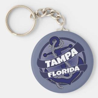Tampa Florida anchor swirl keychain