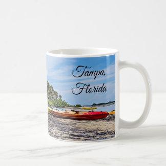 Tampa Florida Beach Kayak and Boats Souvenir Mug