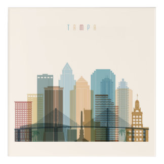 Tampa, Florida | City Skyline Acrylic Print