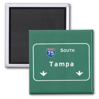 Tampa Florida fl Interstate Highway Freeway : Square Magnet