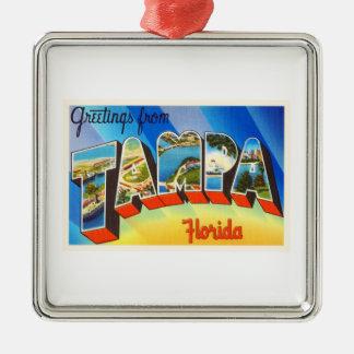 Tampa Florida FL Old Vintage Travel Souvenir Metal Ornament