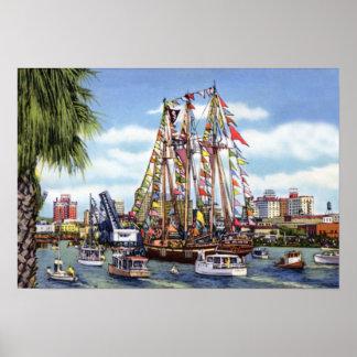 Tampa Florida Gasparilla Festival Poster