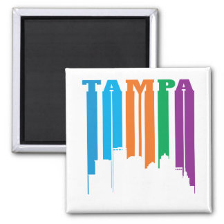 Tampa Florida in Bold Letters and Colors Magnet