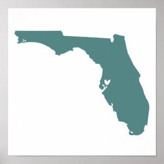 Tampa, Florida Love Poster